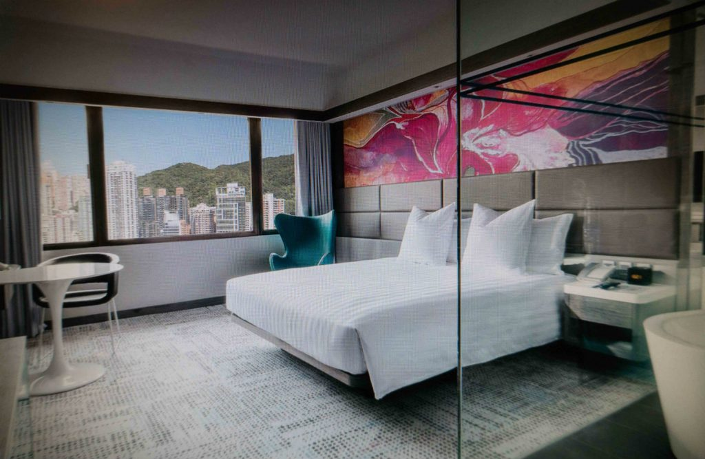 Image Of Evolving Bauhinia As Selected For Decorative Wall Panel In The Executive DeLuxe Room At The Park Lane Hotel Hong Kong